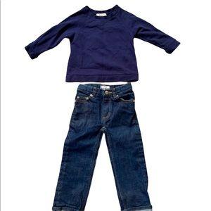 APC Bonton Sweatshirt and Jeans Set Size 4 Kids